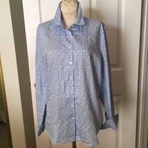Faconnable size 12 washable cotton shirt